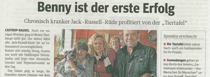 Zeitungsartikel Frohlinder