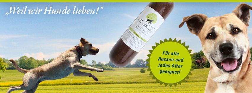Facebook Coverbild von Frohlinder: Hund, Natur und Hundefutter